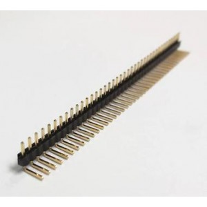 1x40pin 90 fok tüskesor 2.54mm (1db)